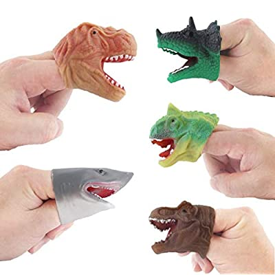 Auch 5Pcs Realistic Dinosaur Finger Puppets Role Playing Toys Party Supplies Birthday Gift for Kids and Adults Great Party Favors: Toys & Games [5Bkhe1105174]
