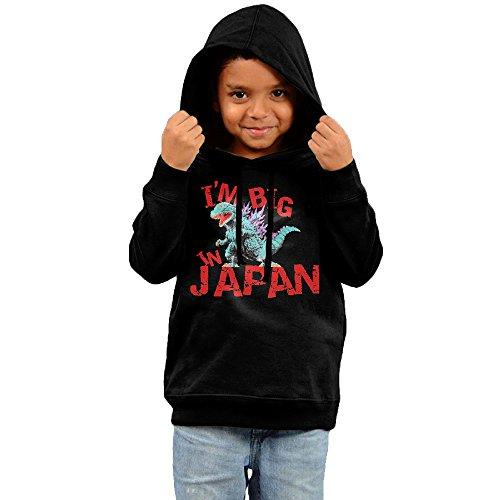 2016 Godzilla Big In Japan Hoodie Design Black Sweatshirts 90s For Your Babe