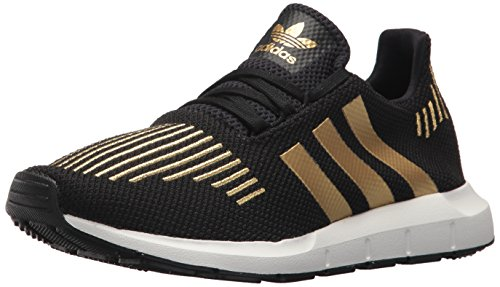 adidas Originals Women's Swift Run W, Black/Gold Metallic/White, 9.5 M - Run Women