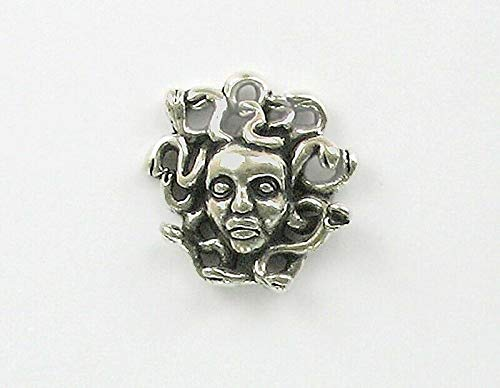 Pendant Jewelry Making/Chain Pendant/Bracelet Pendant Sterling Silver Medusa Head Charm]()