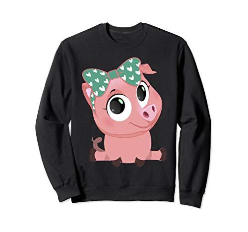 (Pig Bandana Sweatshirt, Cute Pig Sweatshirt, Farmer)