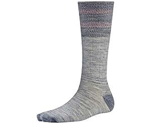 Smartwool Women's Metallic Striped Cable Mid Calf Socks (Ash Heather) Small