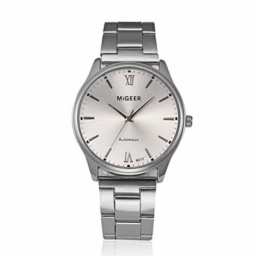 Watches Clearance !!! Fashion Man Crystal Stainless Steel Analog Quartz Wrist Watch (C)