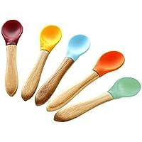 Avanchy Spoon Baby Toddler Organic Bamboo Feeding Spoons. Soft Tip Utensils, ...
