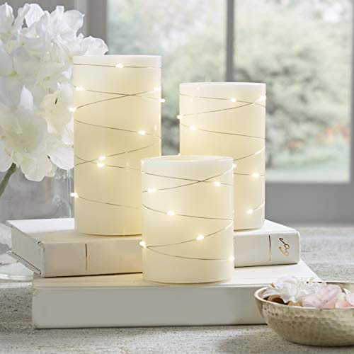 3-Piece Flickering LED Candle