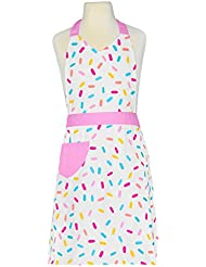 Handstand Kitchen Child's 100% Cotton Sprinkles Apron with Patch Pocket