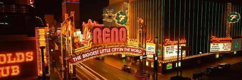Walls 360 Peel & Stick Wall Mural: Reno Biggest Little City In The World (48 in x 16 in) (Reno The Biggest Little City In The World)