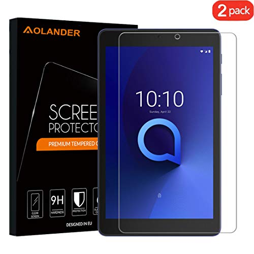 [2-Pack] Aolander Alcatel 3T 8.0 Screen Protector, [2.5D Round Edge] [9H Hardness] [High Definition] [Bubble Free] Tempered Glass Screen Protector for Alcatel 3T (8 Inch)