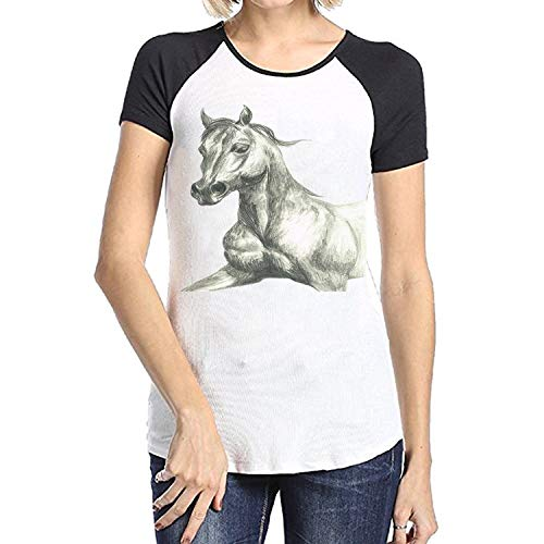 Rosie The Hackney Horse Short Sleeve Raglan T-Shirt, used for sale  Delivered anywhere in USA