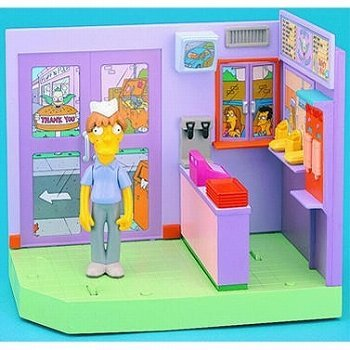 Simpsons / class tea burger with pin pulley face Teen 5 inches Action Figure Box Set Simpson Pit