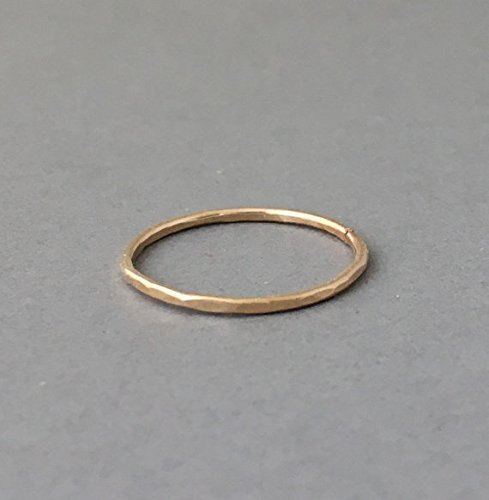 Gold Fill Hammered Stackable Ring also in Rose Gold and Sterling Silver