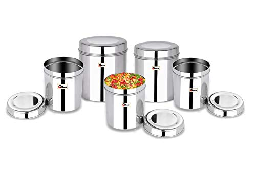 Ebun-Stainless-Steel-Containers-for-Kitchen-Storage-Super-Shining-Plain-Dabba-Set-for-Kitchen-Combo-of-5-Dabba
