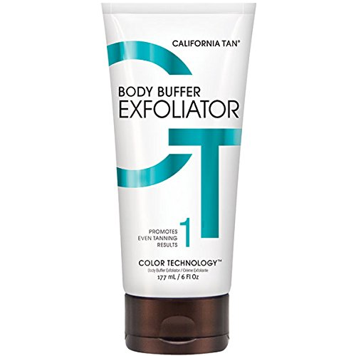 California Tan Body Buffer Exfoliator, Cruelty Free, 6 Ounce (Best Body Exfoliator For Self Tanning)