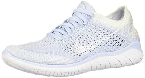 low priced a7070 e2728 Nike Women s Free RN Flyknit 2018 Hydrogen Blue White-White 10.0