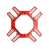 Angle Clamp, 4Pcs 90 Degree Right Angle Corner Holder Clamp, Multifunctional Picture Framing Holder, Woodworking Hand Tools (red)