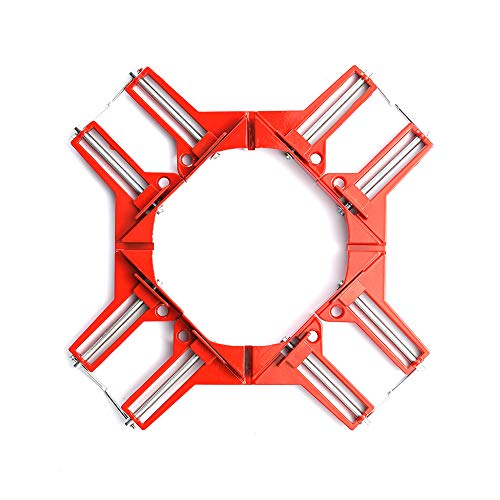 HEWEGO Angle Clamp, 4PCS 90 Degree Corner Clamp, Multifunctional Picture Framing Holder, Woodworking Hand Tools (red) ()