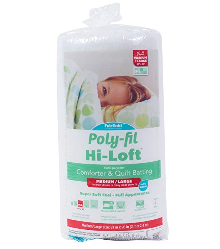 - Fairfield H816 Poly-Fil Hi-Loft Full Bonded Polyester Batting, 81