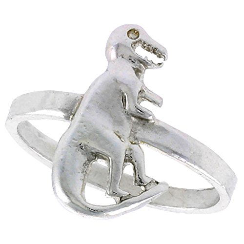Sterling Silver Dinosaur Ring sizes