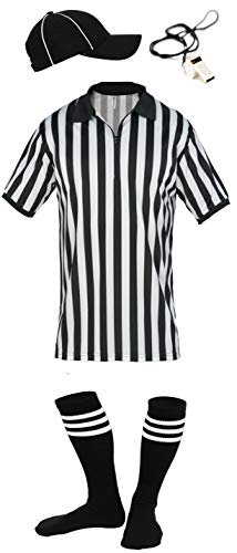 - Mens Referee Shirts/Umpire Jersey with Collar for Officiating + Costumes + More! - RS CA2050ZIP L-HVS-W-SA