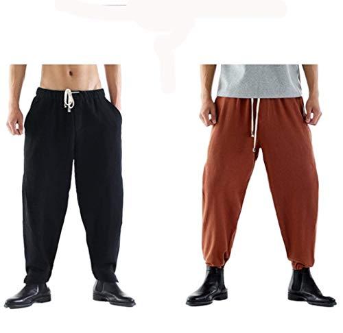 Hombre Sueltos Mode Sólido Pantalones Lino Casuales Largos De Marca  Entrenamiento Bolawoo Bolsillos Con Hombres Color Rot Laterales PE8wwZ d32f3b76afbc