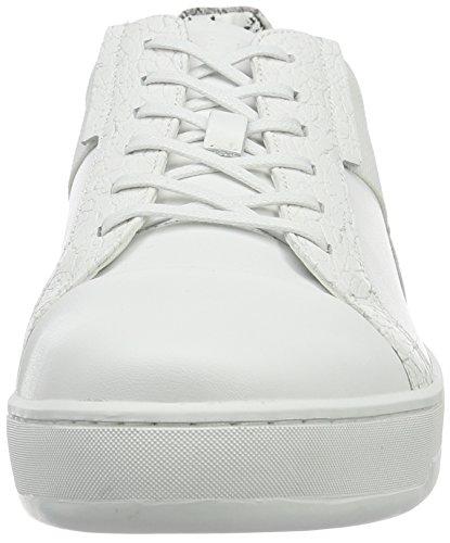 Calvin Klein Nickson Calf/Laser Texture/con, Zapatillas para Hombre Blanco (Wht)