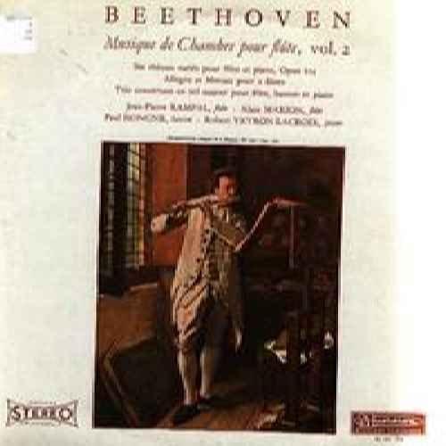 Beethoven / Musique De Chambre Pour Flute Vol 2 - Jean-Pierre Rampal, Paul Honghe, Robert Vetron-Lacroix LP -  MUSIDISC, 30 RC 734