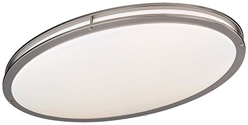 Minka Lavery 863-84-PL 2 Light Flush Mount, Brushed Nickel Finish