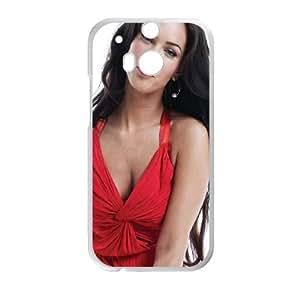 Megan Fox Red Dress funda HTC One M8 caja funda del teléfono celular del teléfono celular blanco cubierta de la caja funda EVAXLKNBC24997