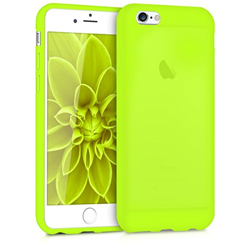 kwmobile TPU Silicone Case for Apple iPhone 6 / 6S - Soft Flexible Shock Absorbent Protective Phone Cover - Neon Yellow