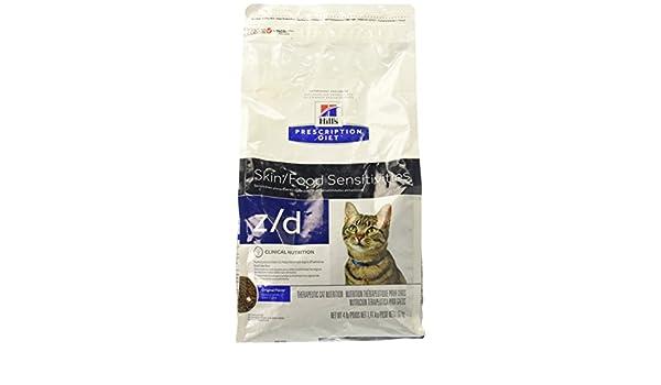 Hills Pet Nutrition Ltd Comida de Z/d alérgeno para gatos 4 libras: Amazon.es: Productos para mascotas
