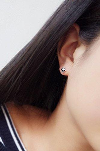 KENHOI Beauty s925 silver earrings earings dangler eardrop women girls cat claw creative lovely soft women girls sweet elegant - Soft Claw Studs