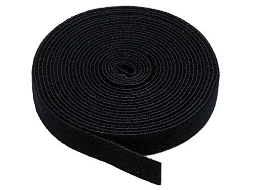 Monoprice Hook & Loop Fastening Tape 5 Yard/roll, 0.75-inch - Black (105828) ()