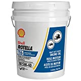 Automotive : Shell Rotella T6 Full Synthetic 5W-40 Diesel Engine Oil (5-Gallon Pail)