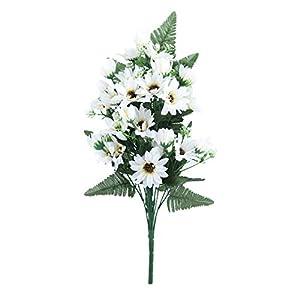 27 Heads/Bouquet Small Aster Artificial Flower Silk Flowers Flores Daisy Fake Flower DIY Wedding Garden Decoration,White 16