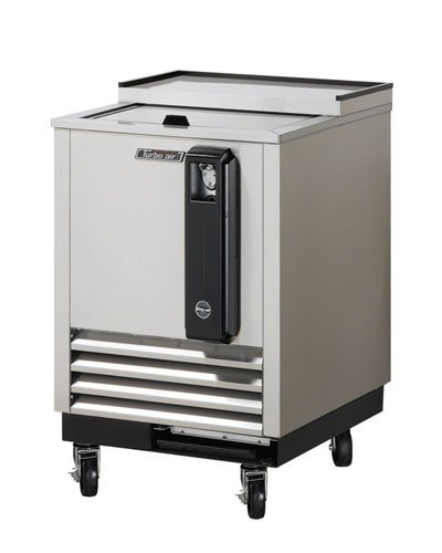 Turbo Air TBC24SD 3 cu. ft. Bottle Cooler with Forced Air Cooling System High Density PU Insulation PE Coated Dividers Efficient Refrigeration System and Stainless Steel Construction: Sta