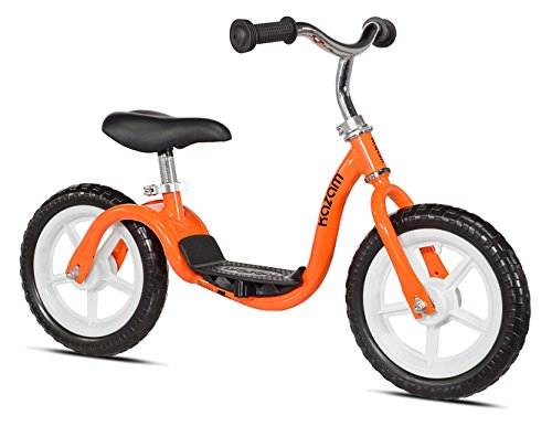 KaZAM v2e No Pedal Balance Bike, 12-Inch, Orange