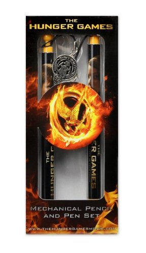 "The Hunger Games Movie - Pen and Mechanical Pencil set ""Katniss and Peeta District 12"""