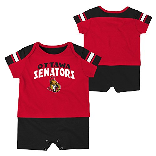 NHL Ottawa Senators Boys Newborn & Infant 'Little Brawler' Jersey Romper, Red, 3-6 Months