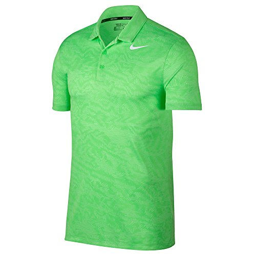 Nike Dry Fit Breathe Jacquard Golf Polo 2017 Green Strike/White Large