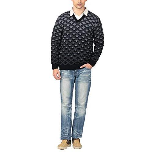 41XXs4UIskL. SS500  - aarbee Men's V-neck Long Sleeve Regular Fit Sweater