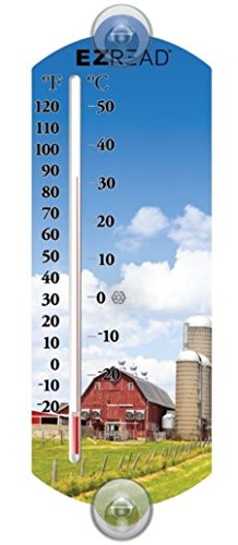 Headwind Consumer Products 840-0055 EZREAD Indoor/Outdoor Thermometer with Farm 10
