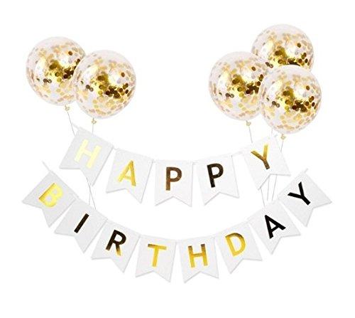 Queen Bee - Decoraciones Fiesta De Cumpleaños - Decoracion Globos De Cumpleaños Y Letrero Feliz Cumpleaños - ( Happy...