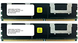 8GB [2x4GB] Fully-Buffered FBDIMM Memory RAM Upgrade for the Dell PowerEdge 1950, 2900, 2950 Systems (DDR2-667, PC2-5300F, FBDIMM)