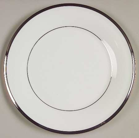 - Lenox Solitaire White Salad Plate, Fine China Dinnerware