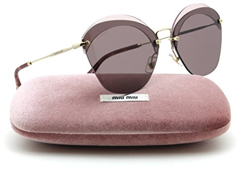 Miu Miu MU 53SS NOIR Collection Rimless Women Sunglasses (Purple VX3-6X1, - Miu Miu Noir Sunglasses