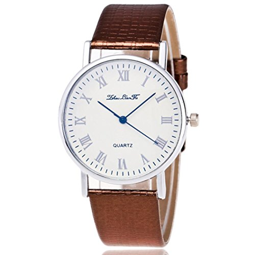 Lucoo Fashion comfortable Christmas gift New Luxury Woman Time Pattern Leather Band Analog Quartz Vogue Watch - Special Vogue Summer