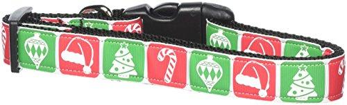 Christmas Ribbon Dog Pet Collar (Mirage Pet Products 25-23 LG Timeless Christmas Nylon Ribbon Dog Collar, Large)