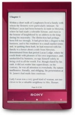 Sony PRST1RC - Lector de ebooks, pantalla escala de grises, 6 ...