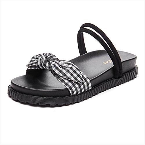 des black chaussons cool porter tongs IANGL Deux gUBq44