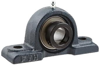 FYH NAPK205 Pillow Block Mounted Bearing, 2 Bolt, 25mm Inside Diameter, Eccentric Lock, Cast Iron, Metric